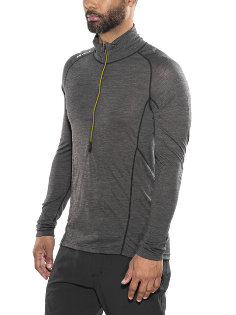 Devold Running Zip Neck LS Shirt Men Anthracite
